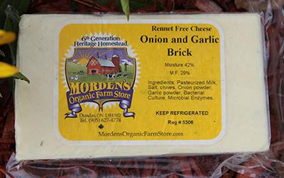 Morden's Organic Cheese