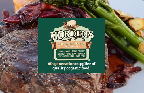 Morden's Organic Store Sign